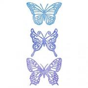 Cheery Lynn Designs DL113AB No. 2 Troquel (tamaño pequeño), diseño de Mariposas exóticas con alas de ángel