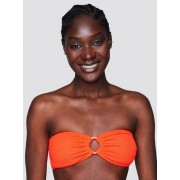 Swim Top Bandau bikiniöverdel med struktur - Orange