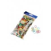 Set de mini elastice colorate pentru par