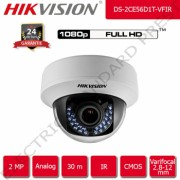 Camera de supraveghere HIKVISION analog 30 m IR FullHD 2 MP 1080p 2.8-12 mm Varifocal interior