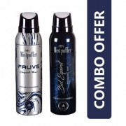Mistpoffer Fauve Perfumed Deodorant + Mistpoffer Bel Espirit Perfumed Deodorant Body Spray Combo Offer Pack of 2 for Men 150 ml Each