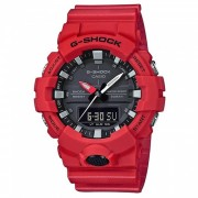 reloj digital casio g-shock GA-800-4A-rojo