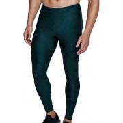 Bloomun Fitness Mens Tight Compression Gym Tight Cycling Tight Yoga Pant Jogging Tights - Bottle Green Color