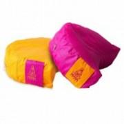 PRANA Pink + Narancs 2in1 kifordítható huzat 36x23x12 cm félhold jóga ülőpárnához