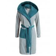 Esprit Župan s kapsami, modré pruhy, župan s kapucí, kabát po koupeli, 100% bavlněné froté, Esprit - L