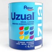 Vopsea Email AZUR Uzual S5070 Gri 0.75 Litri