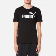 Puma Men's Essential No.1 Short Sleeve T-Shirt - Puma Black - L - Black