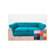 Sofá 3 Cuerpos Bodevir New Shester Felpa - 12 Colores Disponibles