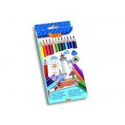 Creioane colorate din lemn 12 culori/set Jovi