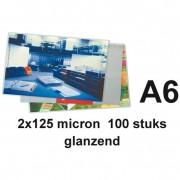 GBC A6 lamineerhoezen glanzend 2x125 micron 100 stuks