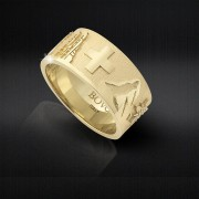 CiaoRing.Schweiz - Goldring Damen & Herren 18kt Gold Grösse 52