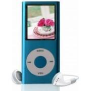 Mini MP3 MP4 Player Radio cu afisaj digital capacitate card pana la 32GB culoare Albastru