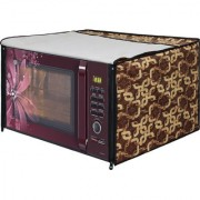 Glassiano Gold Printed Microwave Oven Cover for Samsung 28 Litre Convection Microwave Oven MC28H5025VB/TL Black