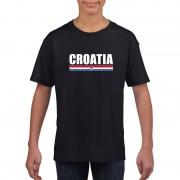 Bellatio Decorations Zwart Kroatie supporter t-shirt voor kinderen