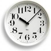Lemnos Zegar ścienny Riki Steel Clock z cyframi arabskimi biały