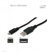 Eldes Kábel USB A/Micro B 1m
