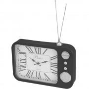 Emako Kovové hodiny ANTIQUE RADIO, stolní