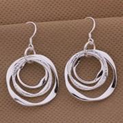 Cercei sferici eleganti placati argint Sara