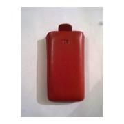 Червен калъф за LG KP500 от естествена кожа