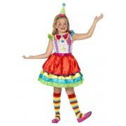 Disfarce palhaço com saia colorida menina - 7-9 anos (130-143 cm)