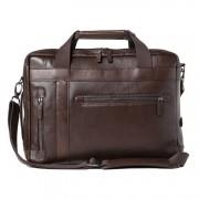 Barber Shop Undercut Convertible Bag Dark Brown Leather