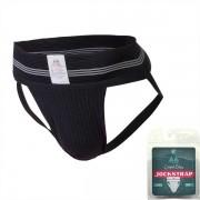 """MM Original Edition Bike Style Adult Supporter 3"""" Waistband Jock Strap Underwear Black"""