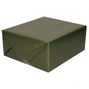 Merkloos Inpakpapier/cadeaupapier groen/goud Art Deco print 150 x 70 cm