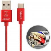 Louis 2.1A 1m De Nylon Tejido C * Cable USB De Sincronizacion De Datos De Carga Rápida Con Cable De Carga Para Samsung / Huawei P9 / Xiaomi 5 / Meizu Pro 5 / LG / HTC Y Otros Smartphones (rojo)
