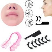 7 Pcs (1 Set) Nose Up Lifting Shaping Clip Clipper Shaper Bridge Straightening Beauty Nose Clip Corrector Massage Tool