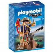 Playmobil Linea Piratas - Capitan Pirata Con Cañon - 6684