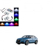 Auto Addict Car 12 LED RGB Roof Light with IR Remote Car Fancy Lights For Audi Q3