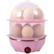 ZEXMON Multi-Function 2 Layer Electric Food and 14 Egg Cooker Boilers & Steamer/Egg Poacher/Home Machine Egg Boiler with Egg Tray. ZX007 Egg Cooker(Multicolor, 14 Eggs)