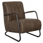 HomingXL Industriële fauteuil Juno leer Colorado bruin 04 78 cm breed