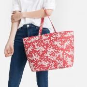 LA REDOUTE COLLECTIONS Geblümter Shopper mit abnehmbarer Reissverschlusstasche