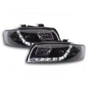 FK-Automotive Phares Daylight avec feux de jour pour Audi A4 (type 8E) Année: 01-04 noir