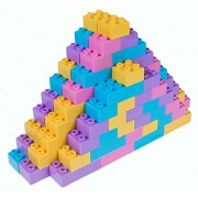 Strictly Briks Classic Big Briks by Building Brick Set 100% Compatible with All Major Brands | 2 Large Block Sizes for Ages 3+ | Premium Building Bricks with Big Pegs in Pastel Colors | 108 Pieces