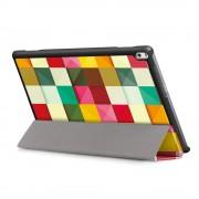 Shop4 - Lenovo Tab 4 10 Plus Hoes - Smart Book Case Gekleurde Vierkanten