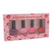 2K Nails With A Kiss Nail Polish Kit 6Ml Lak Na Nehty 4 X 6 Ml For Perfect Nails Per Donna(Cosmetic)
