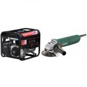 Pachet AGT 3501 HSB TTL GP 200 Generator curent , 3.000 W , motor Honda , AVR in standard + Polizor unghiular Metabo W 1100-125