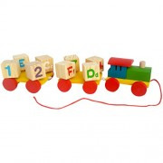 Trinkets & More - Whirlwind Pull-Along Train | Number and Alphabet Rotating Blocks | Early Educational Toys for Toddlers Kids 2 + Years (Plain)