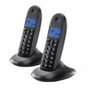 Motorola Trådlös telefon Motorola C1002 DECT (2 st) Svart