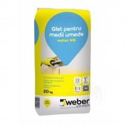 Glet de finisaj pe baza de ciment alb - Weber N15 -20 KG