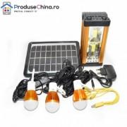 Kit Lanterna cu Incarcare Solara si Iluminare cu LED si 3 becuri LED
