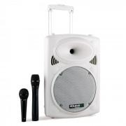 Ibiza PORT10VHF-BT портативна PA тонколона тролей USB SD МР3 500W бяла (PORT10VHF-BT-WH)