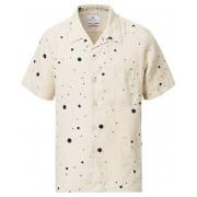 PS Paul Smith Camp Collar Dot Linen Shirt Off White