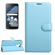 For BlackBerry DTEK60 Litchi Texture Horizontal Flip Leather Case with Magnetic Buckle & Holder & Card Slots & Wallet(Blue)
