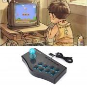 EH 3 En 1 USB Con Conexión De Cable Del Juego De Control Arcade Lucha Contra Joystick Stick Juego De Consola - Negro