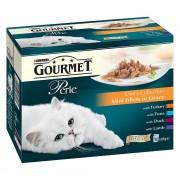 Gourmet Megapack Perle en sobres para gatos 72 x 85 g - Pack mixto Perle Duo (pollo y buey, salmón y abadejo, sardinas y atún)