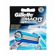 Gillette Mach3 Turbo 5 ks náhradní břit M