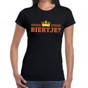 Shoppartners Zwart Biertje en kroon shirt dames